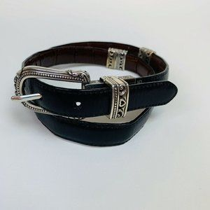 Brighton Leather Belt M L 32 Reversible Brown Blac